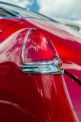 And so it began (GmanViz) Tags: gmanviz color car automobile detail goodguysppgnationals chrome nikon d7000 1949 cadillac custom taillight tailfin
