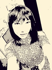 Comic self-portrait (Anina N.) Tags: asian tg tgurl tgirl crossdress crossdresser portrait cd tv transgirl transvestite