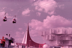 07 Sky line & Netherlands, U.S.S.R., Swiss Pavilion (adelaidefire) Tags: world exposition 1970 expo 70 suita osaka japan sk colour slides 35mm