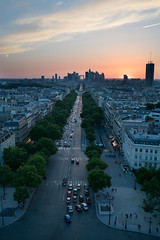 A sunset view from the top of the Arc du Triomphe, Paris (lewisoneill81) Tags: loxia35mm loxia sonya7r2 sunset viewfromthetop paris arcdetriomphe