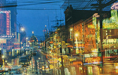 Chinatown at Night, Vancouver, B.C. (Thomas Hawk) Tags: america bambooterrace canada chinatown chinesefood chungkingchopsuey mings pendercafe usa unitedstates unitedstatesofamerica vancouver vintage auto automobile car chineserestaurant neon neonsign night postcard restaurant fav10 fav25 fav50