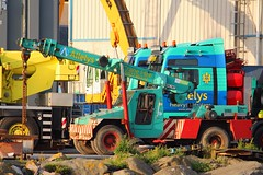 Allelys Crane Hire (calzer) Tags: truck lifting wheeled allelys crane hire buckie harbour