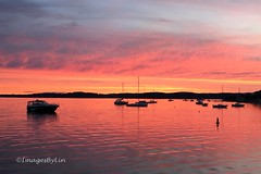 The glory of nature... (ImagesByLin) Tags: belmont belmont16fts sunset pink orange boats lake lakemacquarie nature naturalcolour colours breathtaking landscape