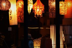 Lights in the storefront (marensr) Tags: chicago storefront city lights color lanterns