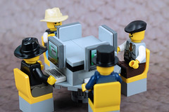 Poker Playing in the Cyber Age (Lesgo LEGO Foto!) Tags: lego minifig minifigs minifigure minifigures collectible collectable legophotography omg toy toys legography fun love cute coolminifig collectibleminifigures collectableminifigure poker pokerplaying playcards cardplaying