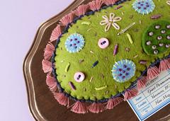 Specimen of Giant Paramecium (hine) Tags: paramecium toy art craft handmade etsy shop hine hinemizushima plankton microbe plush softsculpture felt feltsculpture fibreart