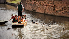 There's 2 schools of thought here (I was blind now I see!) Tags: school children canal river cam punting water feeding birds wall bricks playing swimming floating boats boat following follow boys waterfowl paddle paddling enjoyment happy hungry food feed goose geese goosling babies baby ngc