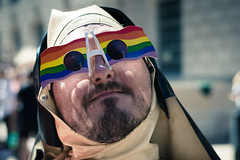 Mother Superior (Sean Batten) Tags: london england unitedkingdom gb pride lgbt nikon d800 58mm nun streetphotography street parade march city urban rainbow portrait