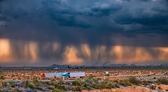 Raining in the American desert