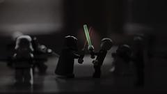 dark versus light (arvin1975) Tags: starwars minifigures clone wars luke sidious darth skywalker lightsaber lego