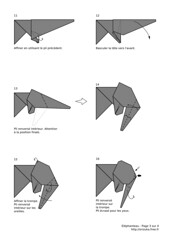 Baby elephant (2008) - diagram 3/4 (Orizuka) Tags: origami diagram elephant