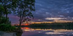 _DSC0023-Pano (johnjmurphyiii) Tags: clouds connecticut connecticutriver cromwell dawn originalnef riverroad riverportpark sky summer sunrise tamron18270 usa johnjmurphyiii
