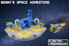 Benny's Space Homestead #1 (Casey M.) Tags: lego spaceship benny homestead space final frontier pew swoosh swooshlug neoclassic brickworld 2017 lowell bruce planet planetoid planetary pandemonium