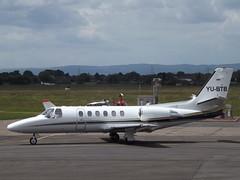 YU-BTB Cessna Citation Bravo 550B Airpink (Aircaft @ Gloucestershire Airport By James) Tags: gloucestershire airport yubtb cessna citation bravo 550b airpink bizjet egbj james lloyds