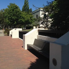 Benches for Monday (melystu) Tags: hbm benches millscollege architectural designedin landscape campus sunshine summer trees benchmonday