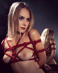 vika_3285w (Vika_Model) Tags: vika fetish bondage rope jute tied shibari cuffs art creative hot sexy model