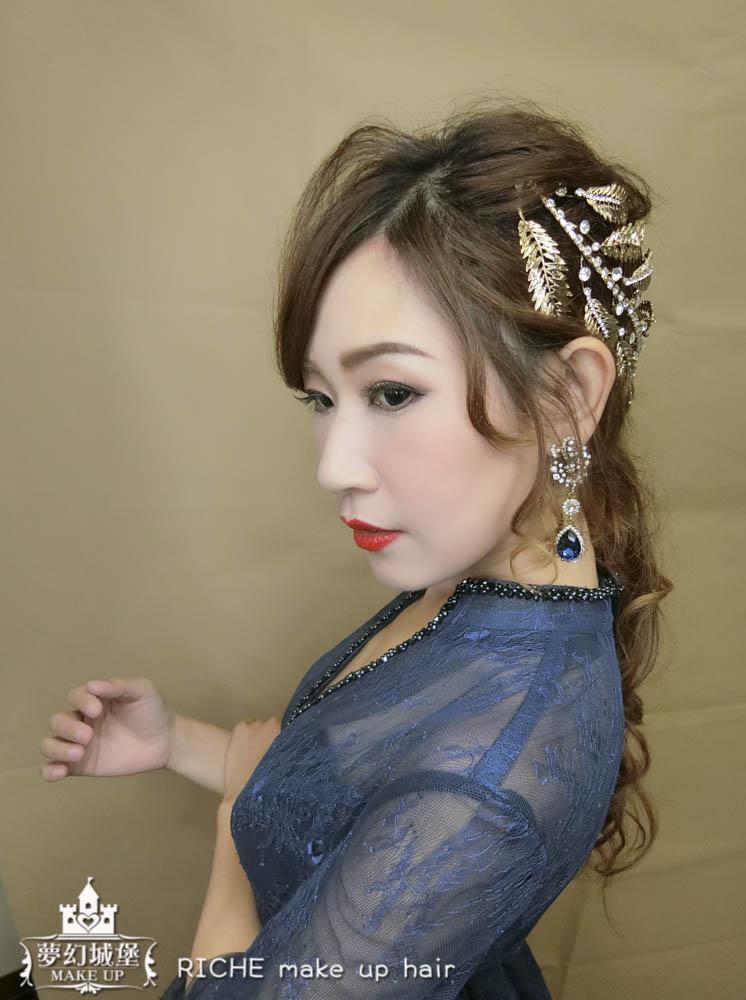 【新秘RICHE】新娘造型創作 / 輕復古低馬尾