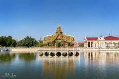 Ayutthaya (Bill Thoo) Tags: ayutthaya thailand palace royalty capital pagoda reflection lake river landscape travel scenic landmark golden colour sony a7rii ilce7rm2 samyang 14mm