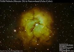 M20-Trifid Nebula SHO (房 Fongky) Tags: astronomy astrophotography messierobject messier narrowband trifid nebula hubblepalette sho falsecolor