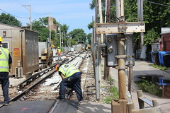 Weekend Work near Kimball July 22-23, 2017 (cta web) Tags: cta ctabrownline construction tracks railroad railway tamping tamper trackties machinery workers chicago ravenswood ravenswoodmanor albanypark