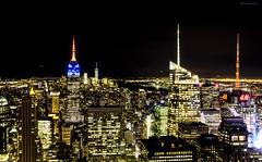 Top of the rock II (gatetegris) Tags: topoftherock rockefellercenter newyork nuevayork nigth nocturna newyorknewyork lights buildings empirestate empirestatebuilding centralpark city usa eeuu hm