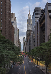 42nd Street (LoneWolfA7ii) Tags: nyc new york city cityscape street buildings chrysler usa sony a7ii clouds manhattan 42nd