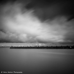 (Claire*Marsh) Tags: weymouth dorset uk jurassiccoast harbour sea water coast seaside le longexposure clouds movement motion blackandwhite mono monochrome leefilters 10stopper