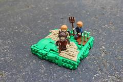Leaving The Shire (PeachBricks) Tags: lego legos moc mocs lord rings hobbit shire hobbiton snot technique vignette vignettes minifigure creation build garden
