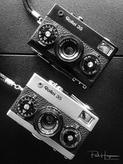 Rollei 35 & 35s (PaulHoo) Tags: gas gear camera equipment design advertising product bw blackandwhite monochrome iphone rollei film 35