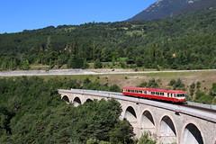 Caravelle sur le viaduc de Bramafan (Maxime Espinoza) Tags: x4500 4567 4500 attcv veynart bramafan viaduc ligne des alpes caravelle sncf