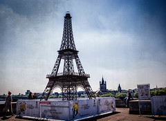 Miniature Eiffel tower for World Championship tribute (mary_hulett) Tags: cologne rivercruise worldchampionshiptribute travel viking rhineriver europe 2017 minieiffeltower