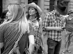 Calgary Stampede, Downtown Action (Sherlock77 (James)) Tags: calgary downtown stephenavenue calgarystampede streetphotography people man woman