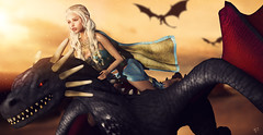 Dracarys (meriluu17) Tags: astralia dracarys dragon khaleesi got game gameofthrones series dragons fly fantasy surreal fan winteriscomming motherofdragons mother people outdoor daenerys targaryen