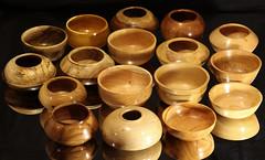 "Seventeen 6"" bowls (Stephen Mildenhall) Tags: woodturning bowl wood lathe woodbowl woodwork"