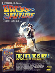 Ad for Back to the Future (1985) on VHS (Tom Simpson) Tags: backtothefuture 1985 1986 1980s film movie ad ads advertising advertisement vintagead vintageads