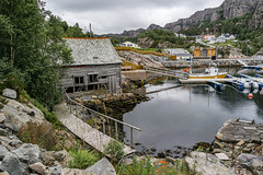 """Old boat house in new harbour"" (Terje Helberg Photography) Tags: haganes boat boathouse boats clouds coast coastal coastalenvironement decay harbor harbour nature neglected old sea seascape sky trees unattended water"