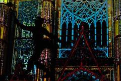18 - Tours, Les illusions de la cathédrale (melina1965) Tags: juillet july 2007 centrevaldeloire indreetloire tours nikon d80 église églises church churches lumière light nuit night