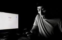 Incoming Call (disgruntledbaker1) Tags: call phone scary mysterious creepy dark mask computee google computer