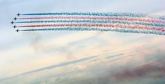Smoke in the Sky (quintinsmith_ip) Tags: redarrows red arrows smoke white blue plane jet formation raf british royalairforceaerobaticteam royal air force aerobatic team bae hawk t1 baehawkt1 southshields gnr greatnorthrun2017sunderlandsaturday2017air show international fly flying demo smoking
