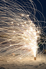 Spectacular Sparks (FilmandFocusPhoto) Tags: canon sigma 1750 1750mm outdoors outdoor firework fire fireworks spark sparks fountain night beach photoshopfree noprocessing untouched unedited noedit unaltered longexposure
