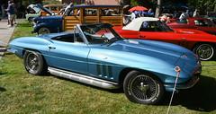 1964 Chevrolet Corvette (faasdant) Tags: 45th annual forest grove concours delegance 2017 pacific university campus classic car automobile show exhibition 1964 chevrolet corvette roadster convertible blue