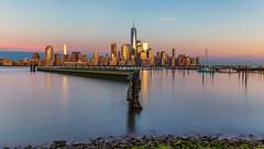 the skyline (lukas schlagenhauf) Tags: manhattan newyork newyorkcity dusk cityscape jersey city usa creativcommons hudson river skyline