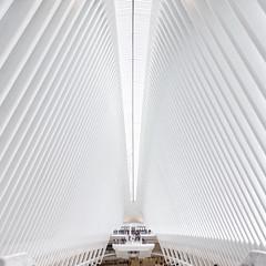 The Phantom Menace (Javier Álamo Andrés) Tags: urban oculus calatrava nyc new york america usa people architecture white ground zero station financial center