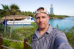 Me at Xel Ha (Jerry Bowley) Tags: rivieramaya xelha me lighthouse ecopark waterslide jerry allinclusive
