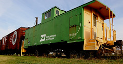 BN Caboose (Laurence's Pictures) Tags: north dakota railroad museum train railway transportation freight bismarck burlington northern pacific soo line historic car
