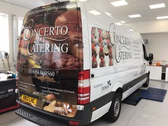 Concerto catering van wrap by creative fx car wrapping 1 (Creative FX www.fxuk.net) Tags: workwear embroidery embroidered design designer printedlogo logo print carwrap van wrap creative fx