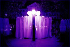 Eingang (sinepo) Tags: blau tor netz schleier licht leuchten kugel nacht
