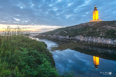 Solpor na Torre (xulio.barreiro) Tags: acoruña galicia sea blue