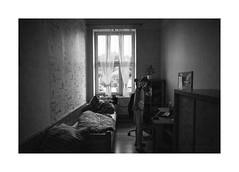 My room, my world (Jan Dobrovsky) Tags: blackandwhite 21mm biogon childrenshome krásnálípa monochrome grain dark people reallife leicam10 northernbohemia evening social kids document