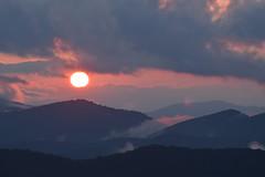 Sunset,Caney Fork Overlook (esywlkr) Tags: sunset sky clouds mountains landscape nc wnc bro blueridgeparkway northcarolina nature candyforkoverlook